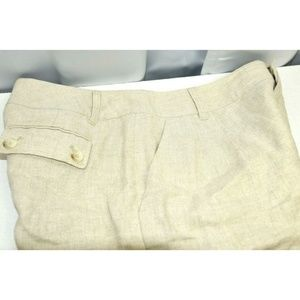 Michael Kors Shorts - Michael Kors Women Shorts Linen Beige